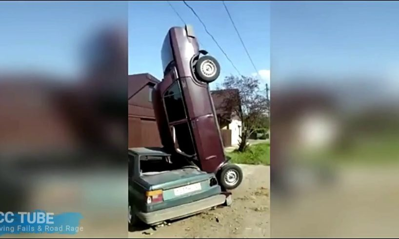 EXAMPLES OF DRIVERS WITH LOW IQ - DRIVING FAILS & ROAD RAGE 2017 #653