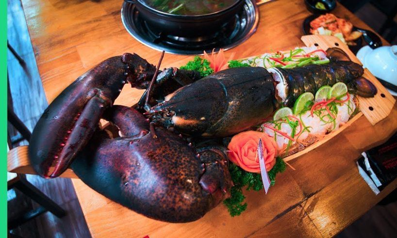 7 POUND LOBSTER FEAST!  (Lobster Tail Sashimi + Lobster Blood Soup???)