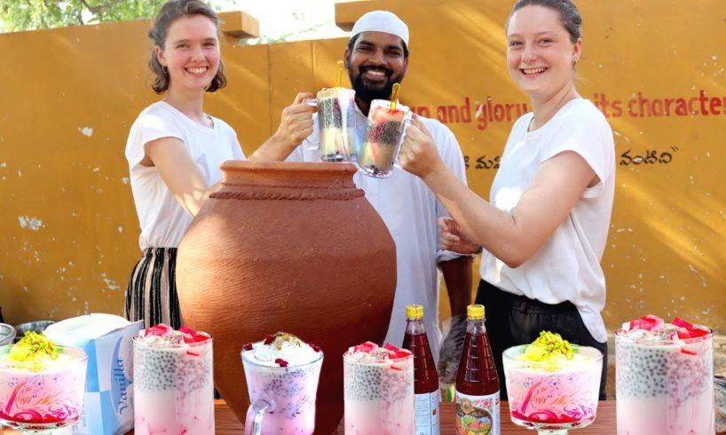 Amazing Falooda Recipe   Lassi Recipe    summer health drinks for orphans    Nawabs kitchen