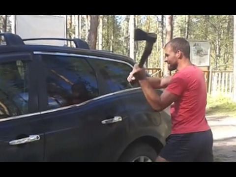 BREAKING CAR WINDOW - EPIC MOMENTS