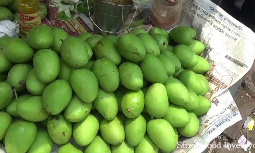 Bengali Street Food India | Tasty Masala Raw mango (Aam) -  Kolkata Street Food India