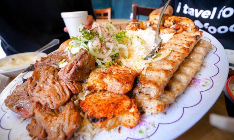 Best Restaurants in Los Angeles - BIG KABOB PLATTER + Must-Eat Food Tour in LA!