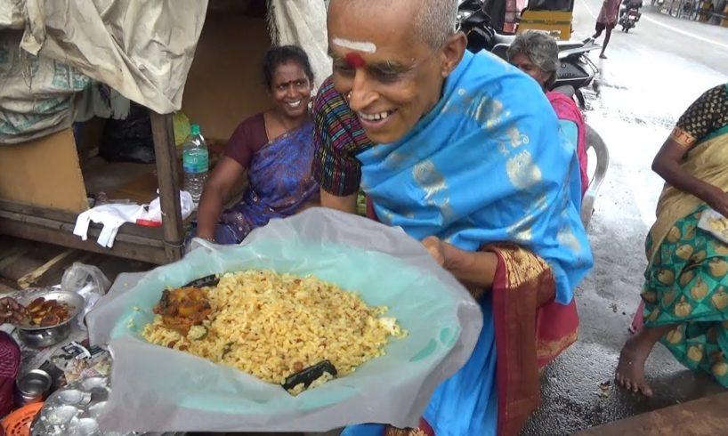 Chennai Common People Eating Breakfast ( Lemon Rice @ 20 rs )   Street Food Loves You