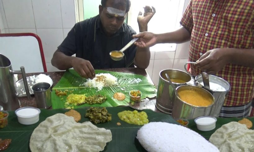 Chennai Lunch Only 60 rs ($ 0.85) | Worlds Best Cheapest Thali in India | Best Food Tamil Nadu