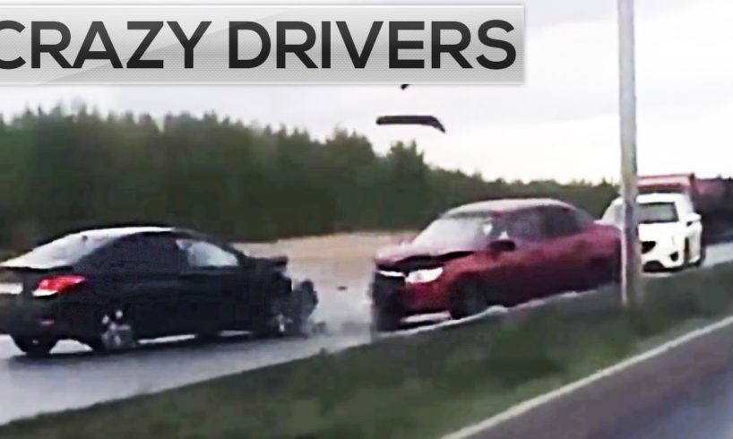 Crazy drivers! (Opposite side) - Road Rage and Car Crashes compilation 2016