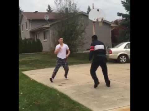Dudes fighting over money guy gets KO'd