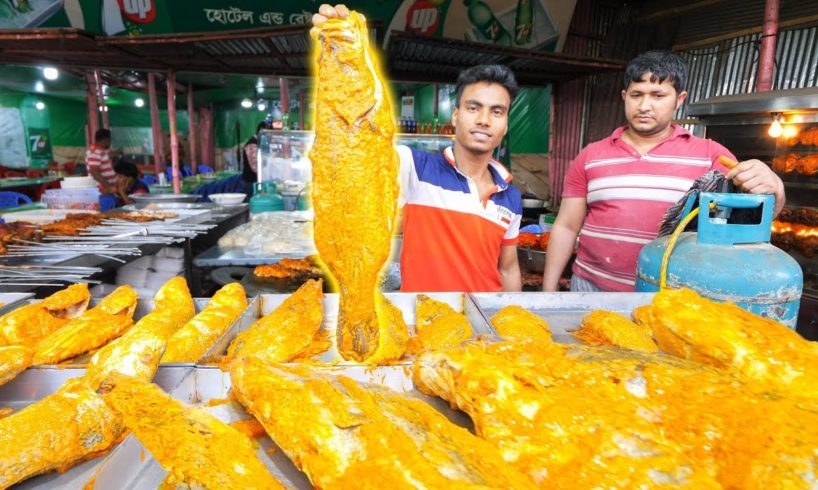 EXTREME Street Food in Bangladesh - WOW!!! WHOLE Fish BBQ Seafood + Street Food Tour of Old Dhaka!!!