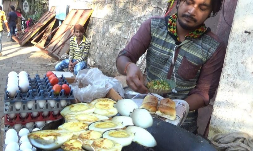 Egg Bhurji Vada Pav @ 25 rs & Egg Bajji Vada Pav @ 15 rs | Mumbai Street Food