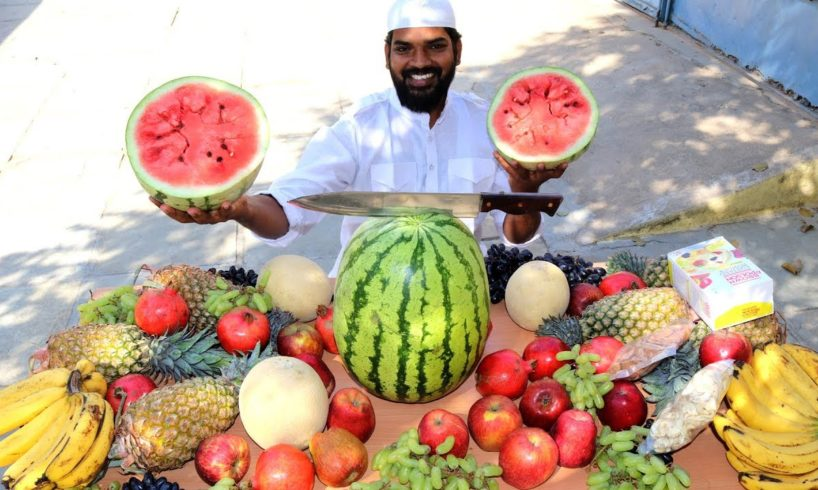 FRUIT CUSTARD |Amazing Fruits Cutting Skills |Nawabs Kitchen