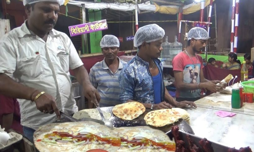 Fast Food Khajana - Egg Roll @ 25 rs - Last Year Durga Puja Festival in West Bengal