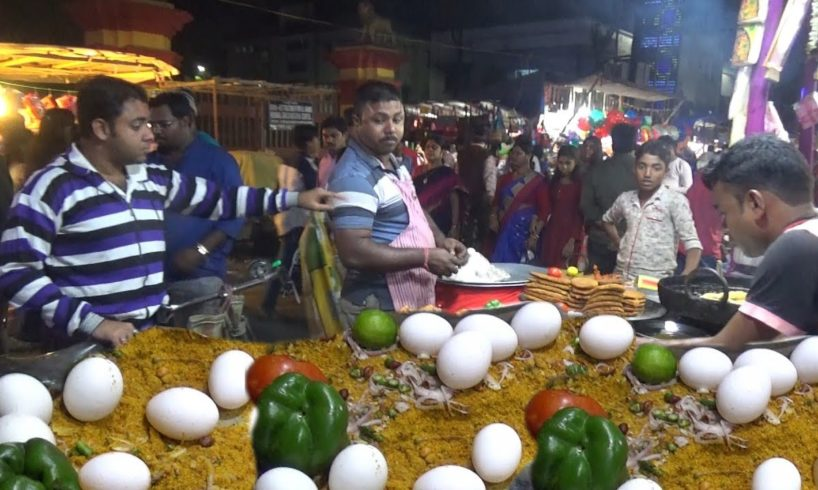 Fast Food King Mughlai Paratha @ 50 rs | Chandannagar Jagadhatri Puja 2018
