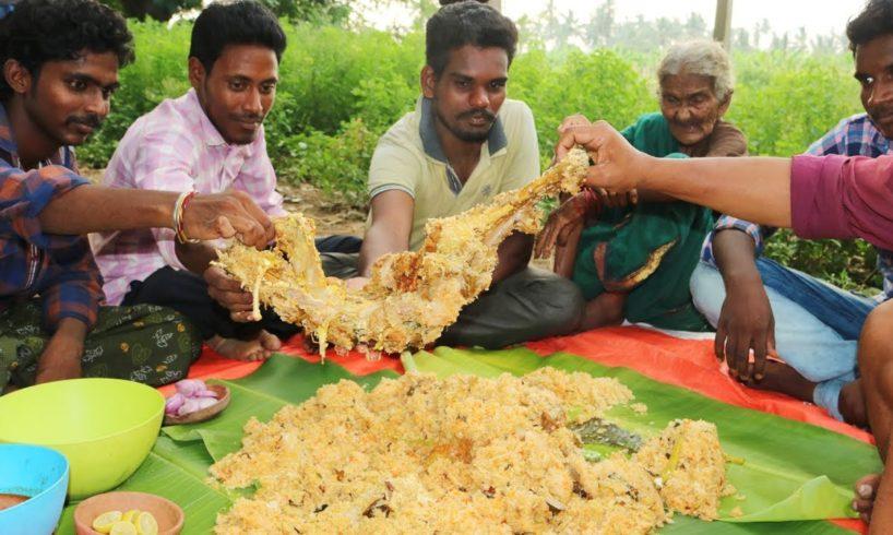Full Goat Biryani By World's Oldest Chef Mastanamma | Country foods