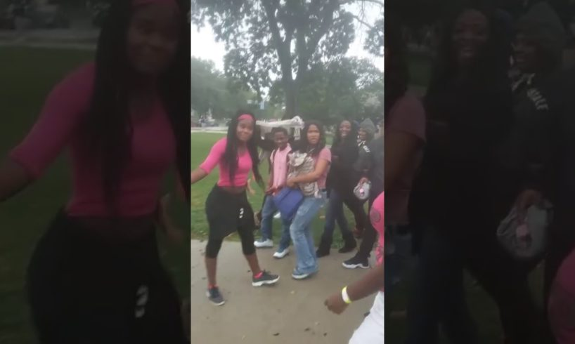 Girl gets knocked out Hood Fights