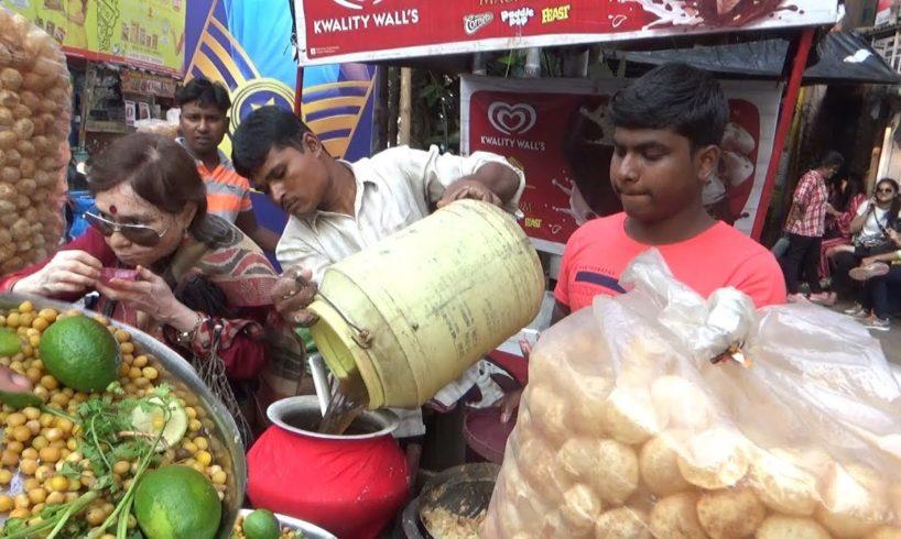 Golgappa/Puchka/Panipuri Craze During Durga Puja Morning 2018 | Kolkata Street Food Loves You