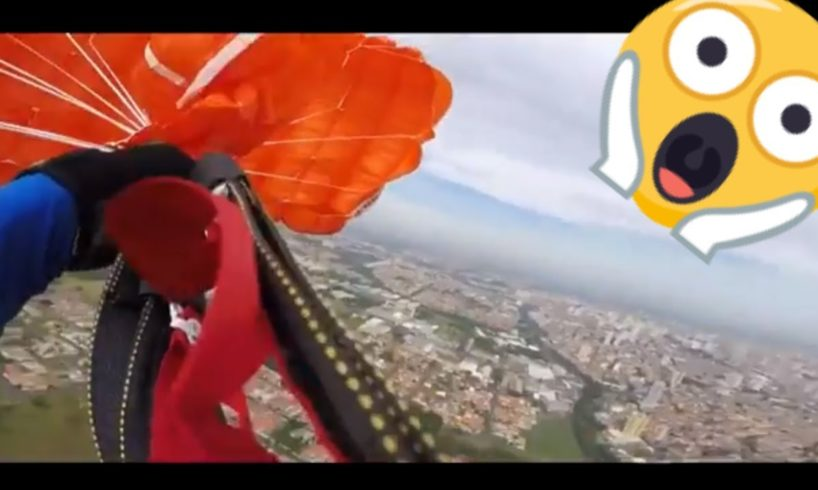 HIS PARACHUTE got TANGLED😱😱NEAR DEATH EXPERIENCE  CAPTURED by GoPro compilation
