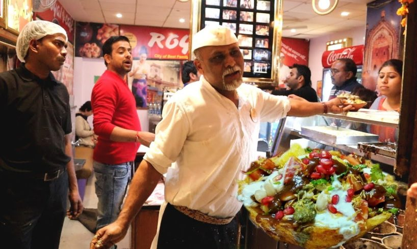 Hardayal Maurya - The Chaat King of Lucknow - Full basket chaat @ 200 rs