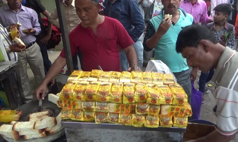 Huge Sell of Butter Toast Tea Besides Sealdaha Station Kolkata | Street Food Loves You