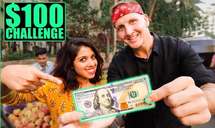 INDIAN Street Food $100 CHALLENGE in MUMBAI! Best Street Food in Mumbai!