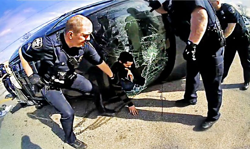 Idiot Drivers vs Cops 👮Instant Justice 2017, Police Chase & Driving Fails on Dashcam #36