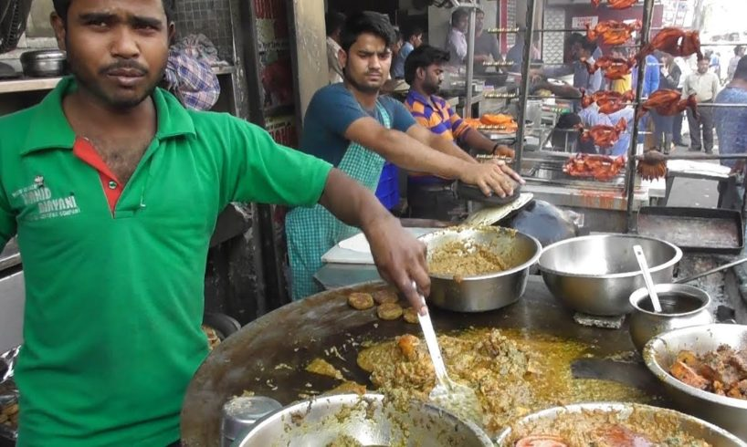 Indian People Enjoying Famous Lucknowi Biryani & Chicken Kebab - Street Food Lucknow India