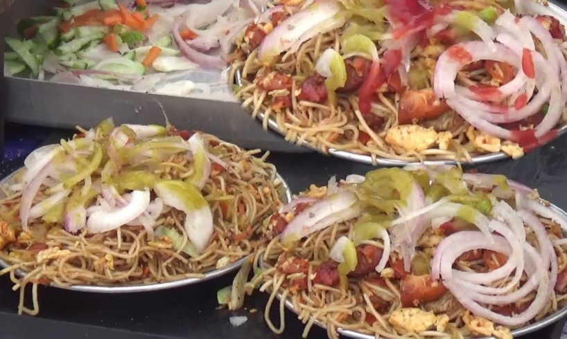 Indian Street Food at Sea Beach   People Hungry to Eat Fast Food   Street Food Loves You Present
