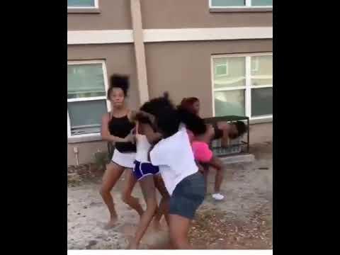 Insane American hood fight (Girl Edition)