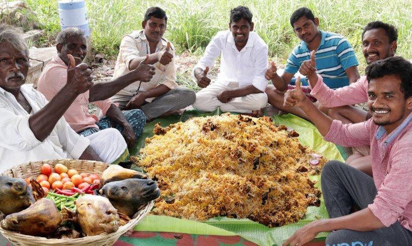KING OF BIRYANI -Goat Heads Biryani By Grandpa -  Country Foods