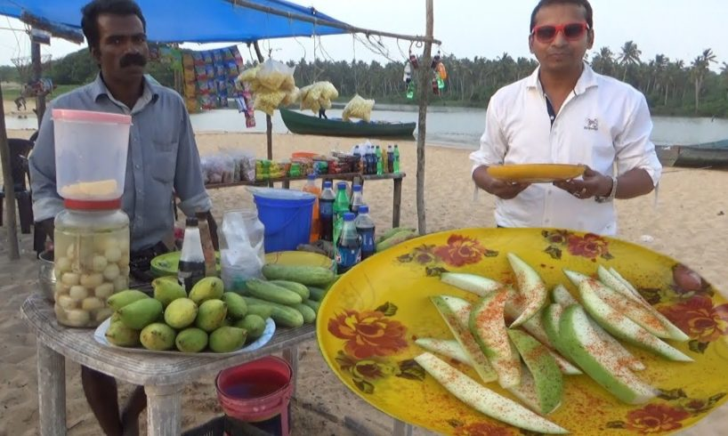 Most Thrilling Experience in Golden Sand Beach Poovar Kerala with Raw Masala Mango