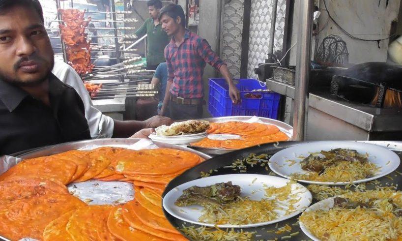 Mughlai Paratha with Mutton Galouti Kebab & Mutton Biryani - Tunday Kababi Lucknow Aminabad