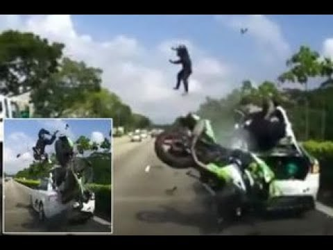 NEAR DEATH MOTORCYCLE ACCIDENT COMPILATION