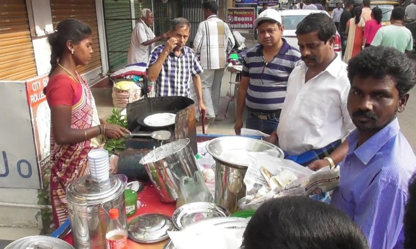 One Dosa 10 Rs | Cheapest Dosa in The world | Street Food Vellore Tamil Nadu India