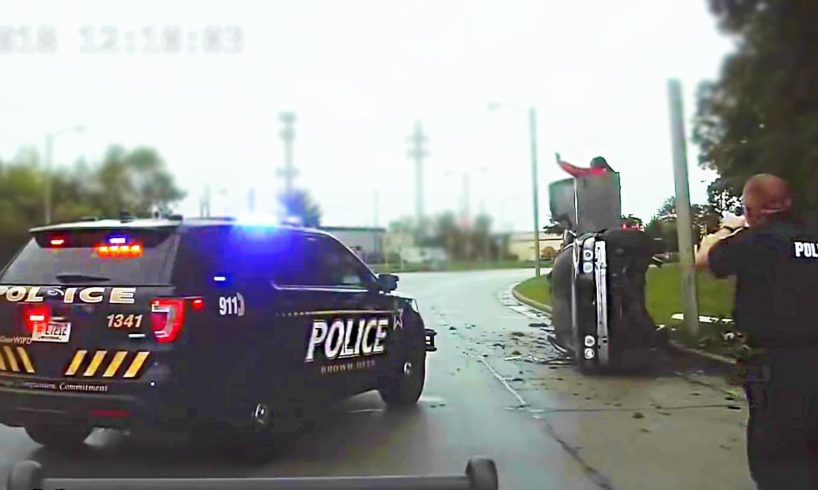 Police Dashcam - Cops vs Stupid  Drivers #74
