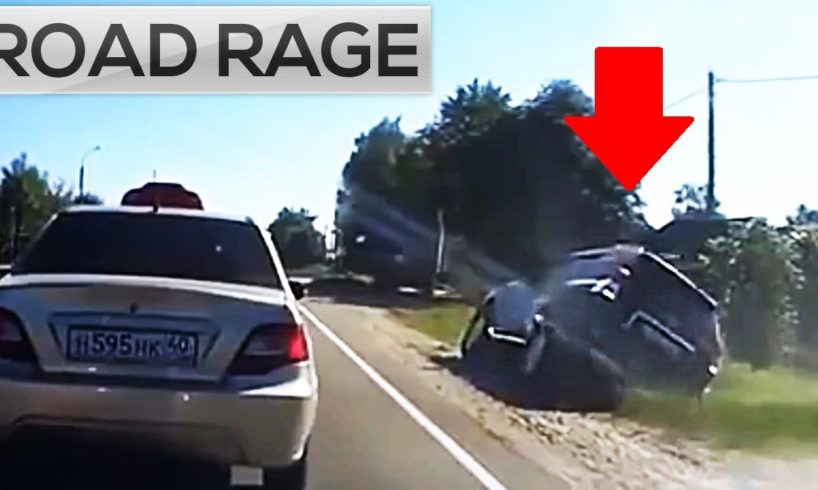 ROAD RAGE & BAD DRIVERS COMPILATION (Driving on the roadside ...)