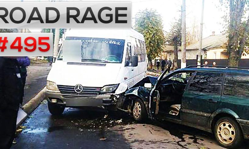 ROAD RAGE & CAR CRASHES, Bad drivers compilation #495