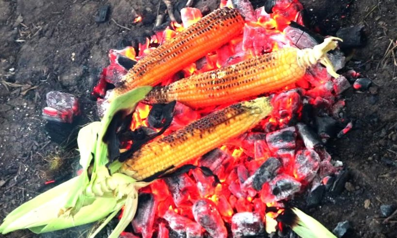 Roast Corn making By Country Foods Boys