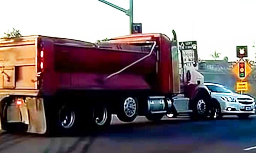 SEMI TRUCKS DRIVING FAILS - BAD DRIVERS USA, CANADA - ROAD RAGE IN AMERICA