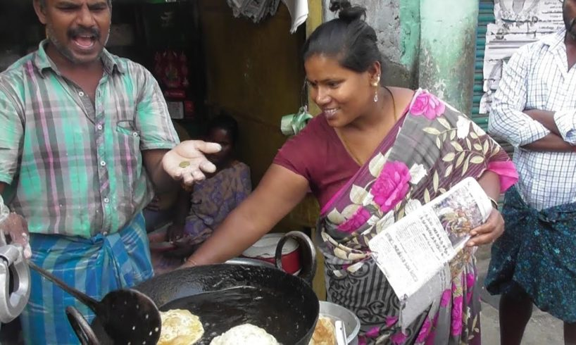 South Indian Lady Working Hard for Their Family | Selling Puri Curry | Street Food Loves You