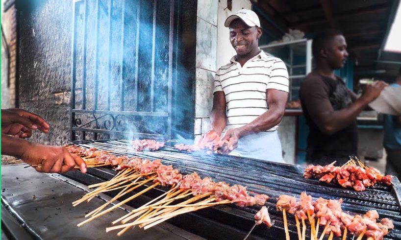 Street Food in Madagascar's Biggest City!!! Zebu Meat Heaven!