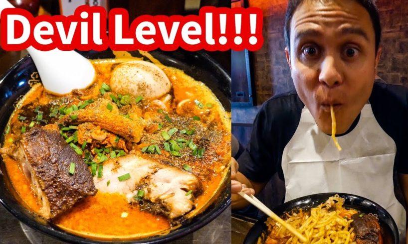 THE SPICIEST RAMEN in Tokyo at Karashibi Kikanbo - DEVIL LEVEL Japanese Food!