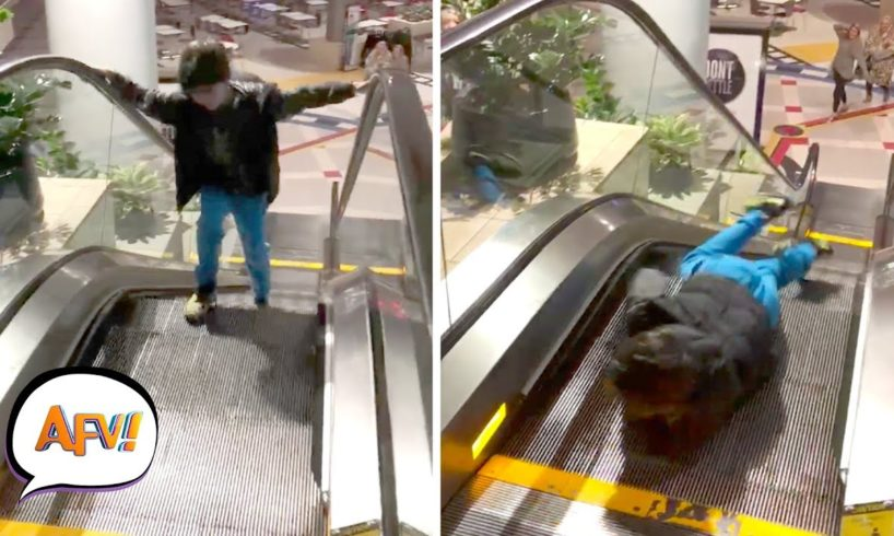 Why You DON'T Play on Escalators | Fails of the Week | February 2019 AFV