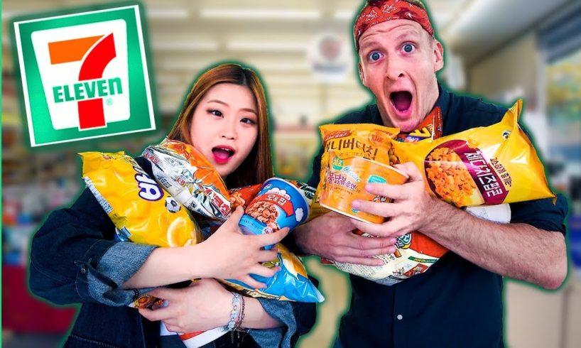 10 KOREAN FOODS You've Never Seen! UNIQUE Korean 7-Eleven Tour in Seoul