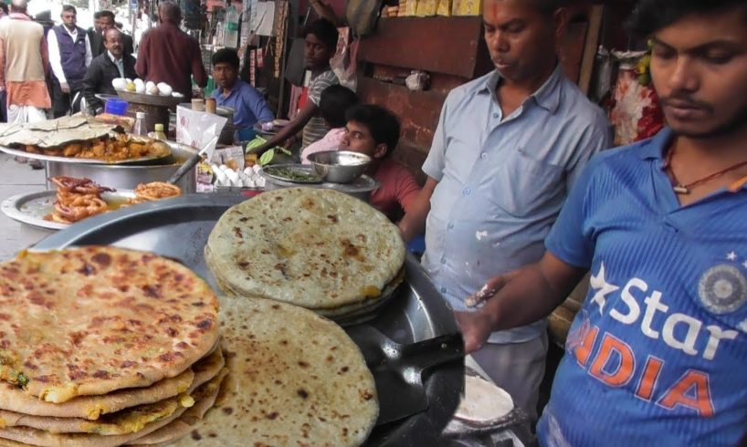 Aloo Paratha & Chatu Paratha With Curry 2 Piece 14 Rs Only | Cheap But Tasty | Street Food Loves You