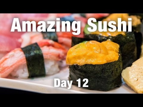 BEST Sushi So Far In Osaka and a Quick Visit to Nara - Japanese Food Travel in Osaka!