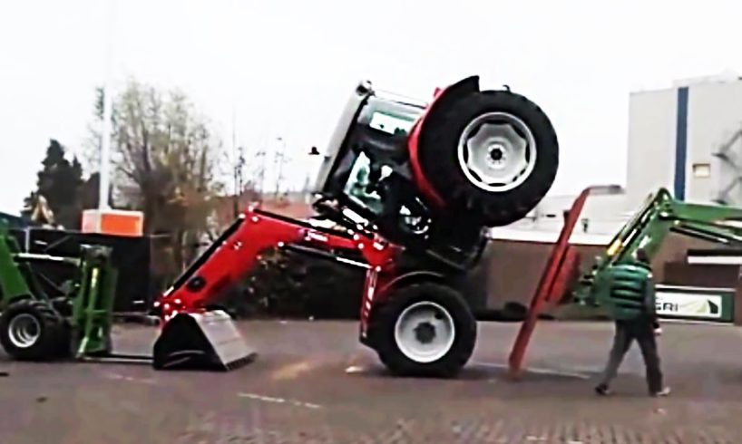 Best of Tractor Fails & Wins 2017 - Funny Tractor Driving Fails, Heavy Equipment Fails