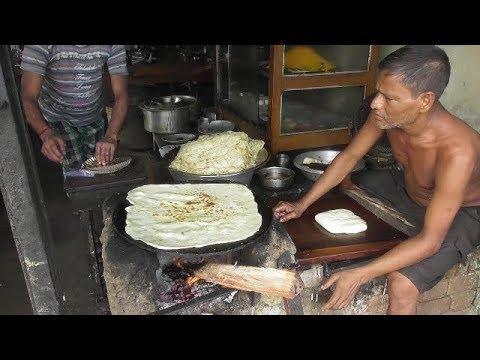 Big Size Paratha | Rare Indian Street Food | Old Man Making Petai Paratha | Village Food at Street