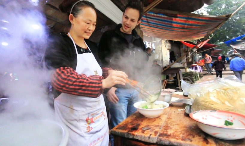Chinese Street Food Tour in Chongqing, China | BEST Alleyway Food in China