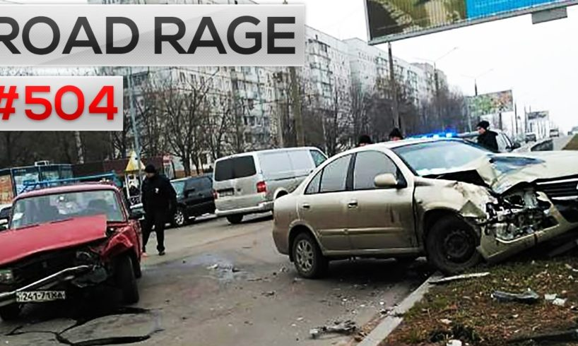Daily Russian car crashes & Road Rage, Bad drivers compilation #504