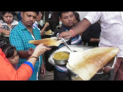 Dosa Bagan Pure Vegetarian Food (New Market,Kolkata)   Indian Street Food   People Non Stop Eating