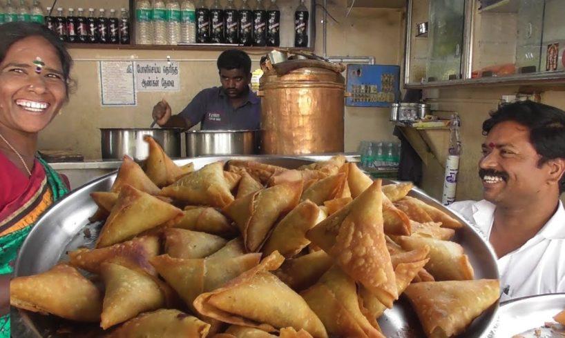 Enjoy South Indian Samosa & Tea | Very Crispy Tasty Street Food India