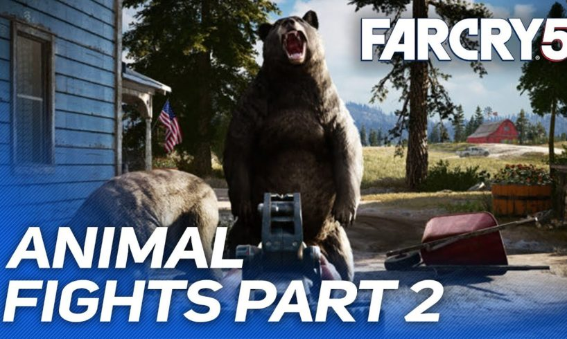 Far Cry 5 - Animal Fights & Animal Attacks // Part 2